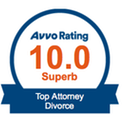 Avvo lawyer directory rates on a scale of 1 (lowest) to 10 (Superb).