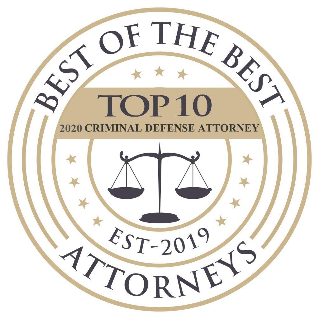 Best of 2020 Criminal Defense Attorney